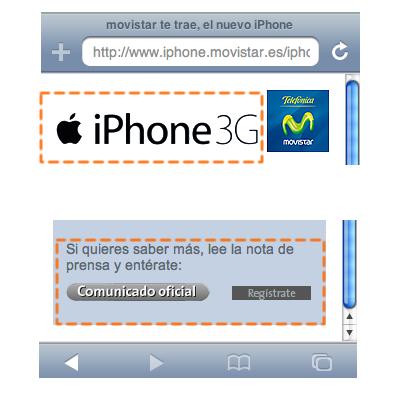 Microsite iPhone movistar en le iphone